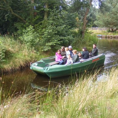 A family boat ride at Martin Mere