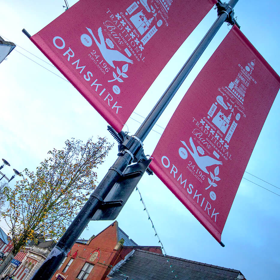 Ormskirk Town Centre Banners