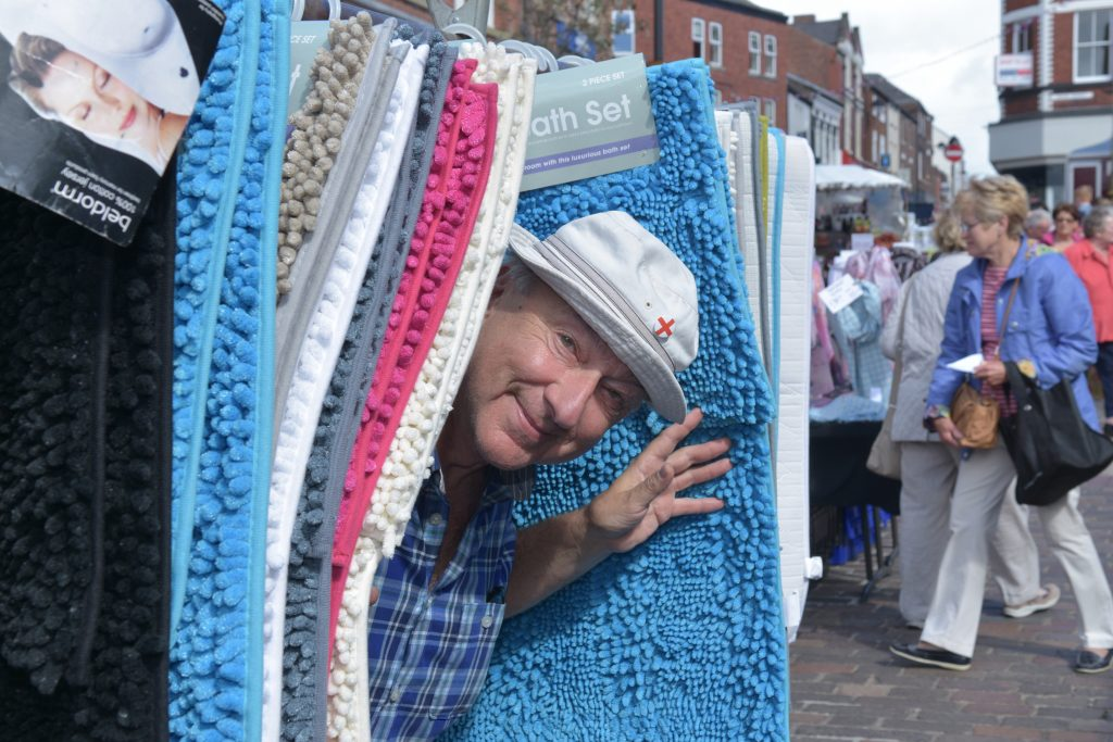 A cheeky trader at Ormskirk Market