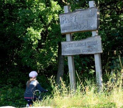 Signage at Ruff Wood