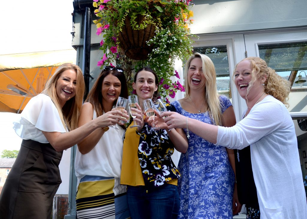 Friends celebrating at the Cricketers Pub in Ormskirk