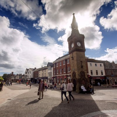 Ormskirk Town Centre and Clock Tower