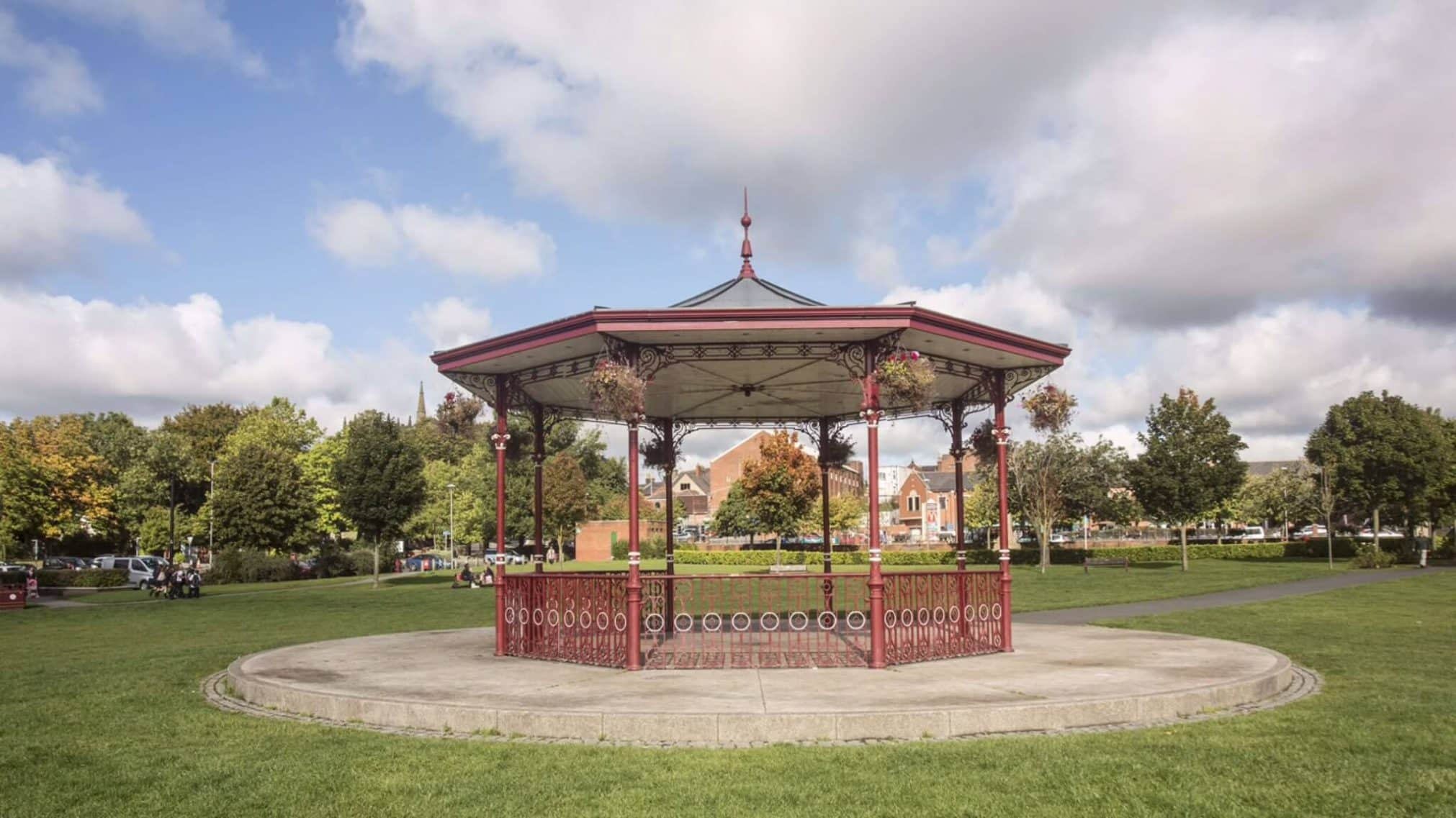 Ormskirk's bandstand in Coronation Park