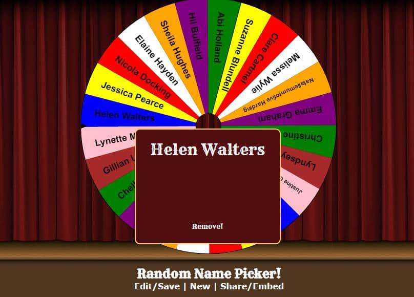 Winner Helen Walters