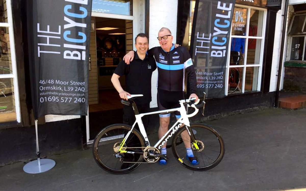 Customer Paul collecting his New Cervelo S3 Disc Ultegra Di2 Bicycle