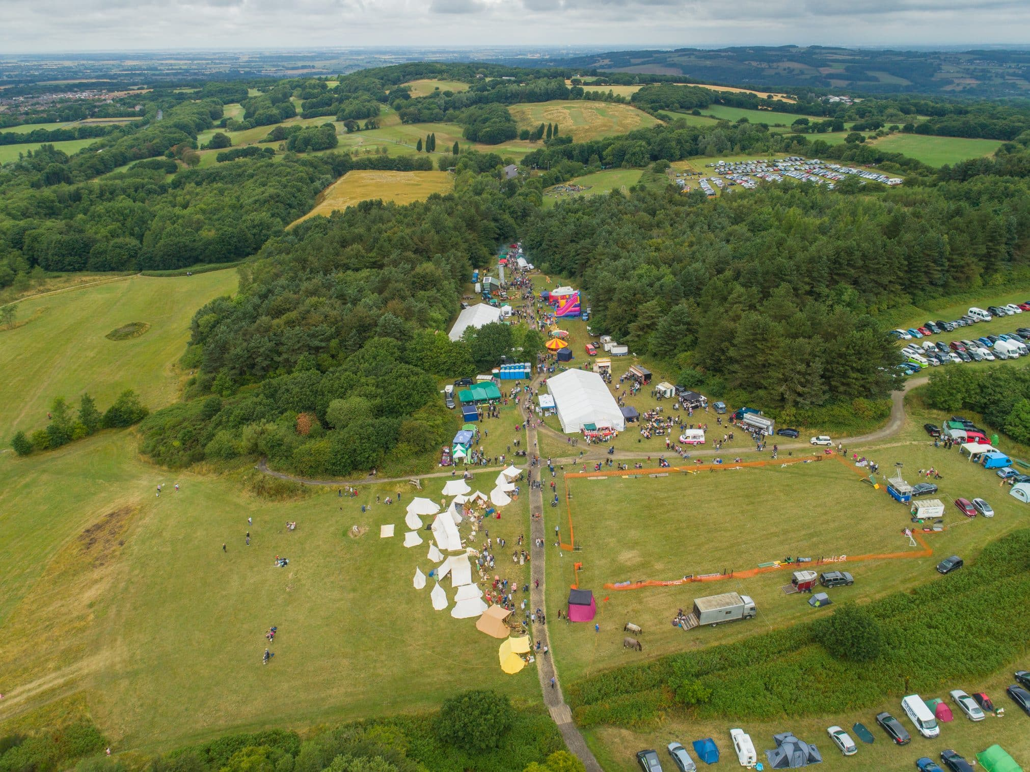 Drone photograph of Green Fayre at Beacon Country Park