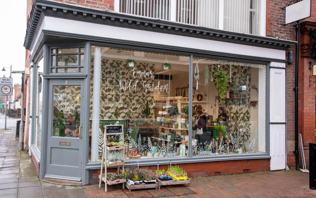 The exterior of Emma's Wild Garden shop