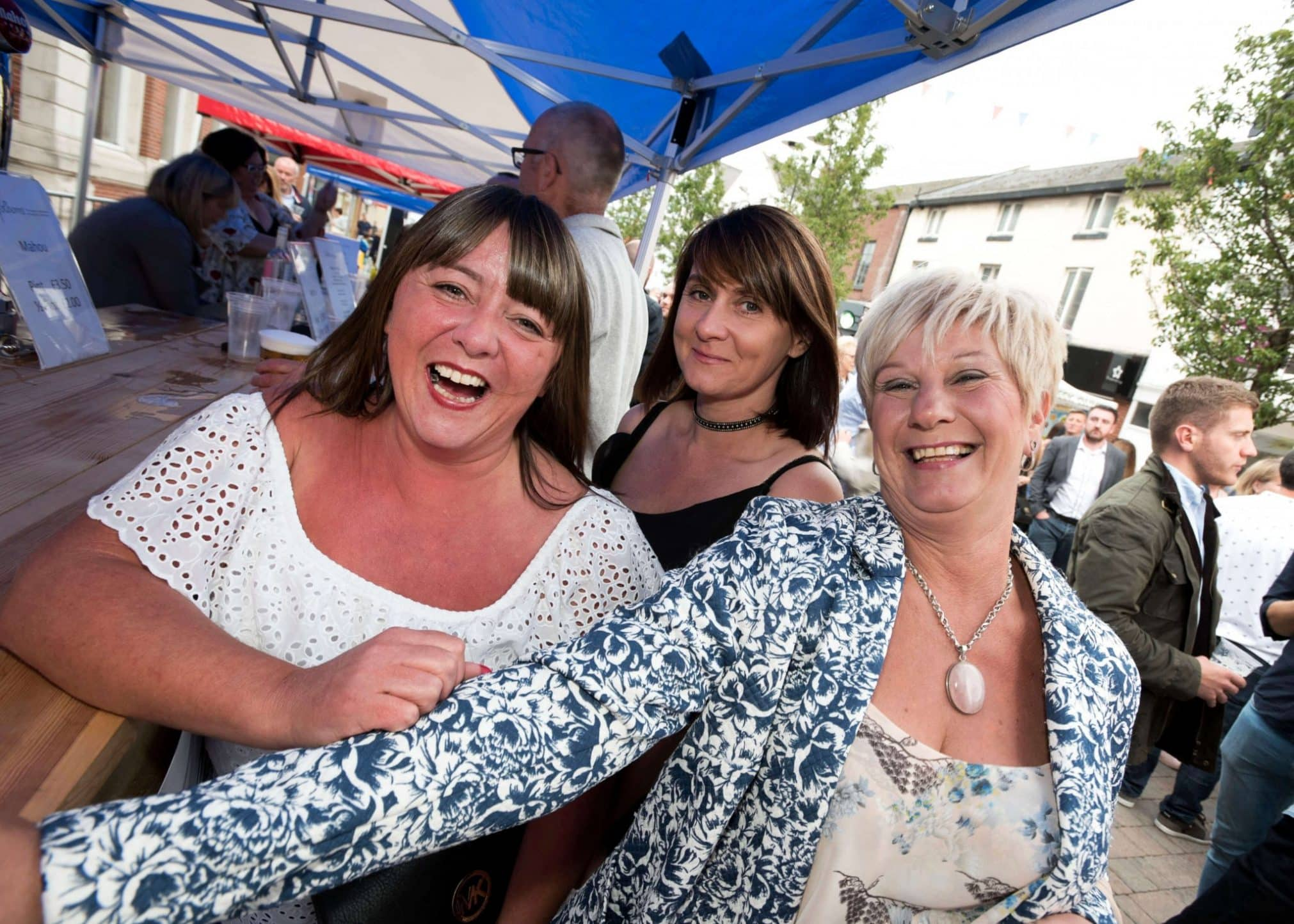 Carla, Kelly and Kath have a ball at Moor St Night Market