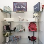display of bags and shoes