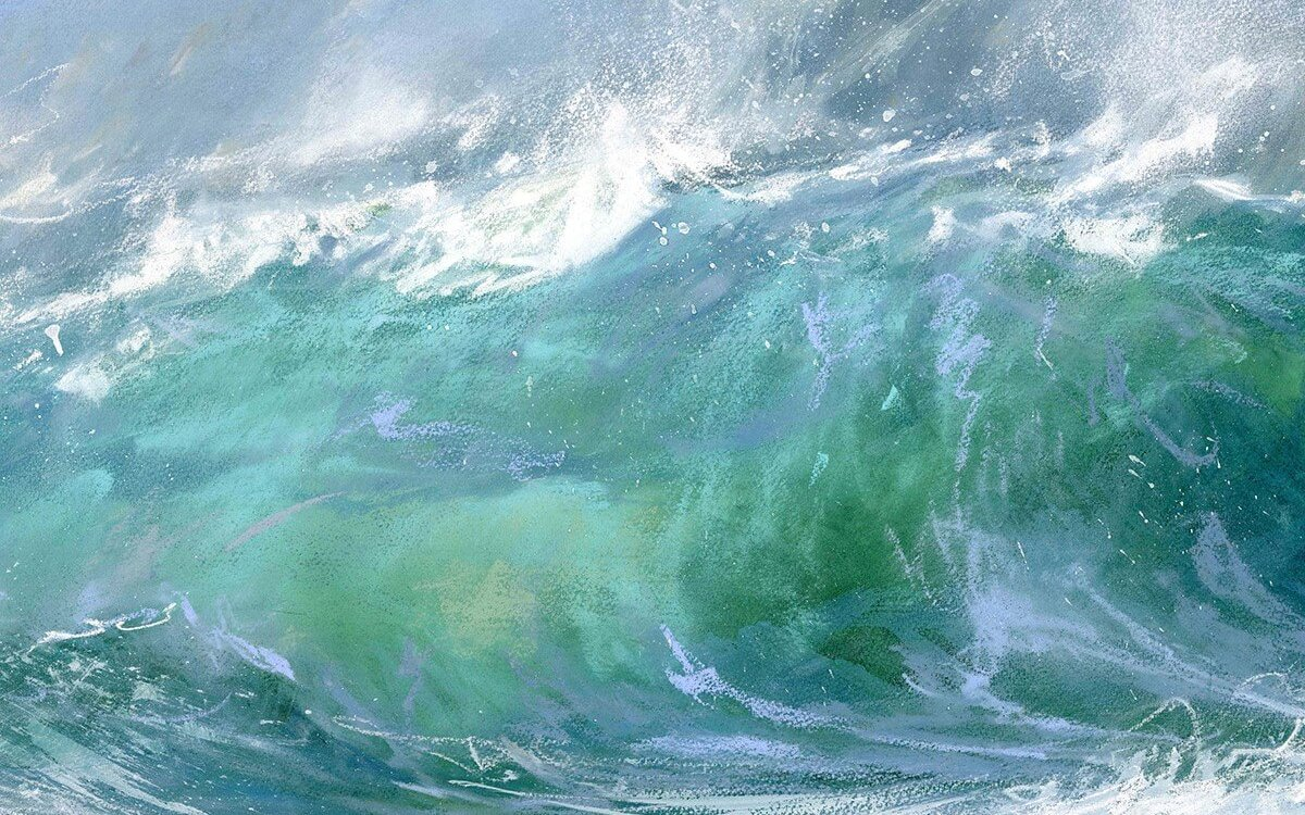 A painting of waves by James from Mill House Gallery