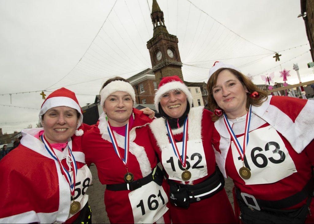 4 Women from Ormskirk's Santa Dash 2018