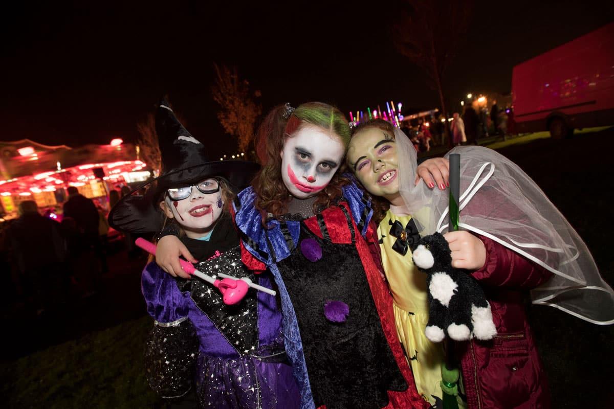 Children enjoy Halloween 2017