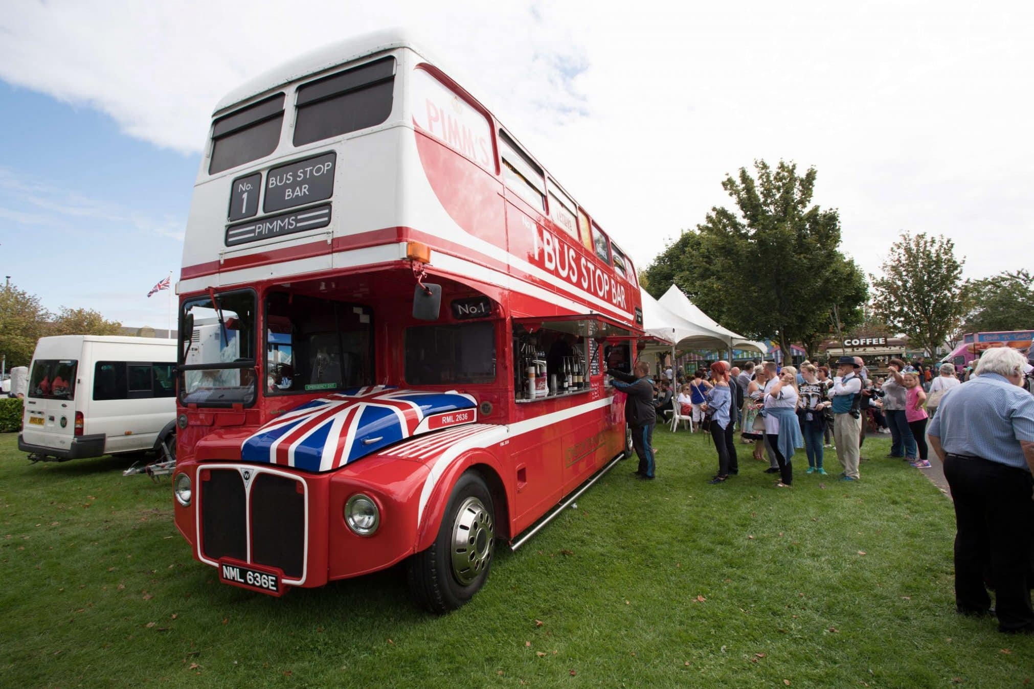 A Red London bus at Motorfest 2017